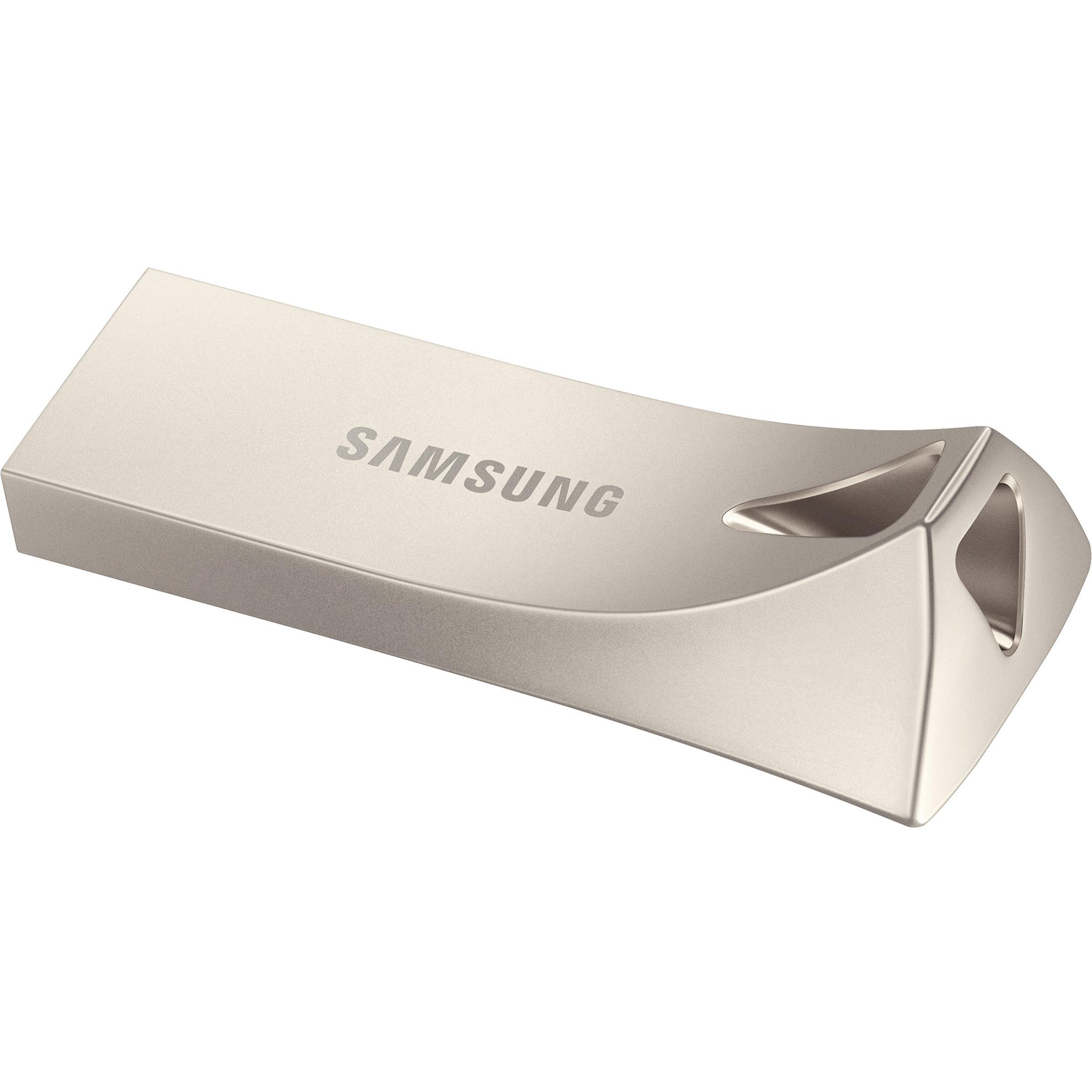 Samsung BAR Plus 128 GB USB 3.1 Type A Flash Drive - Champagne Silver