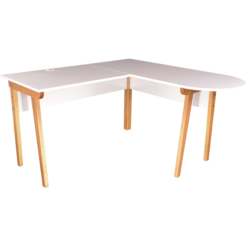 Image of: Llr 34503 Lorell Mid Century Modern Office Desk Lorell Furniture