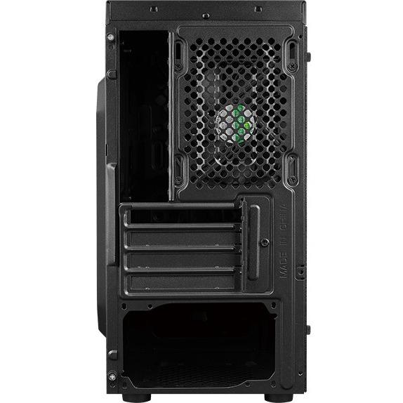 AeroCool Bolt Mini Gaming Computer Case - Micro ATX, Mini ITX Motherboard Supported - Mini-tower - Steel, Tempered Glass - Black - 3.65 kg - 5 x Bays - 1 x 120 mm