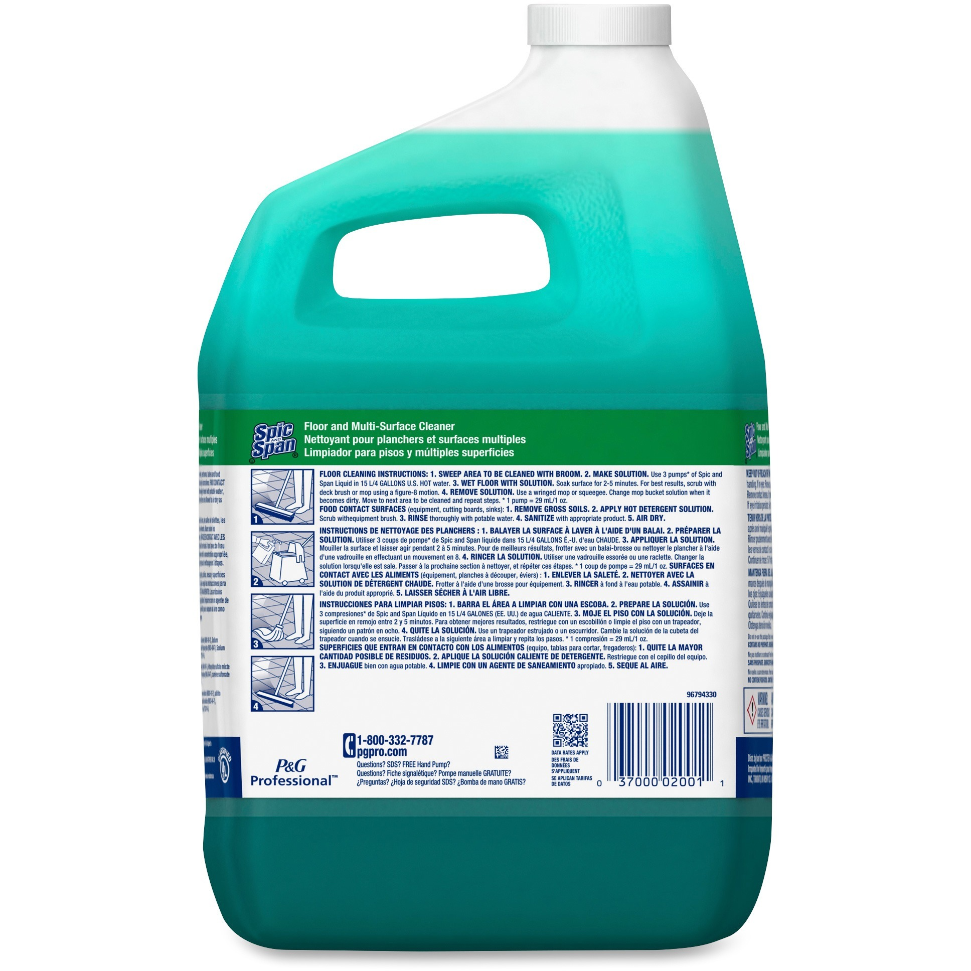 Spic And Span Floor And Multi Surface Cleaner Liquid 1 Gal