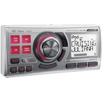 Alpine CDA-118M Waterproof 1.8 DIN Marine CD Receiver
