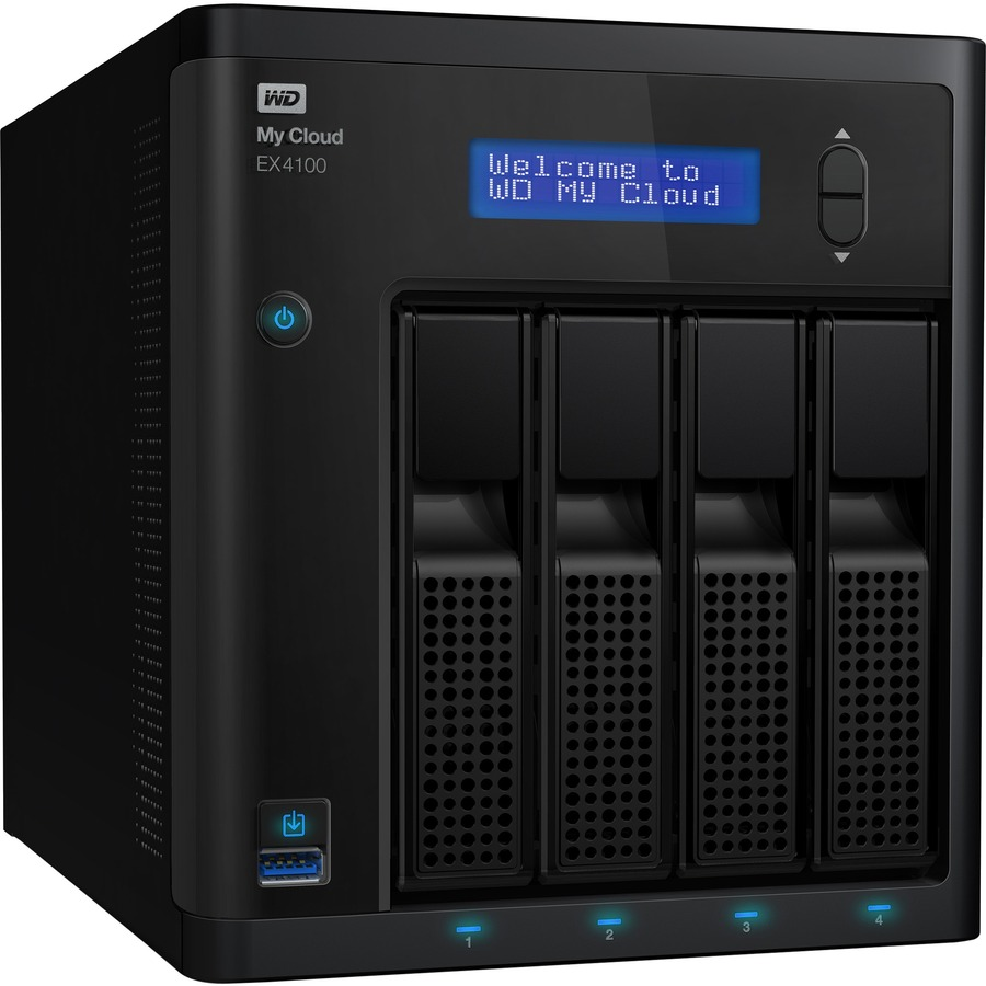 WD My Cloud Business Series EX4100, 0TB, 4-Bay Diskless NAS with Intel®  processor