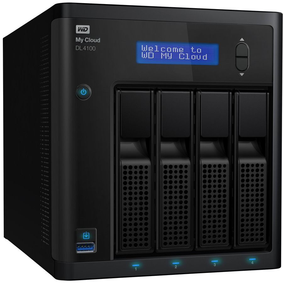 WD My Cloud DL4100 4 x Total Bays NAS Server - Intel Atom C2338 Dual-core 2 Core 1.70 GHz