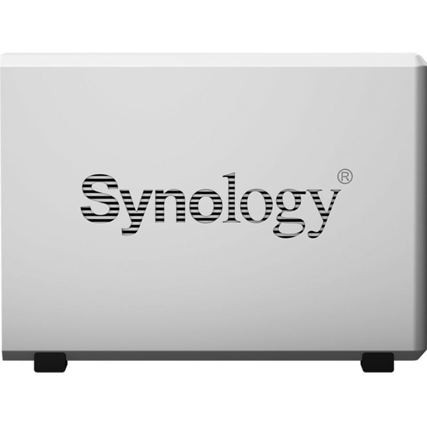 Synology DiskStation DS119J 1 x Total Bays SAN/NAS Storage System - Desktop - Marvell Dual-core 2 Core 800 MHz - 1 x HDD Supported - 256 MB RAM DDR3L SDRAM - Seria