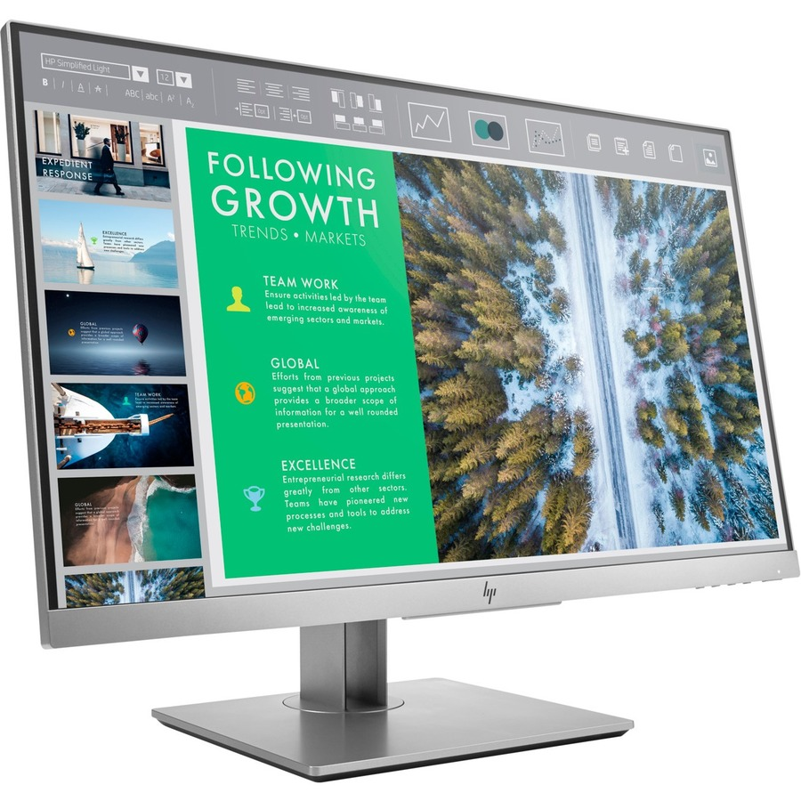 HP E243 60.5 cm 23.8inch LED LCD Monitor - 16:9 - 5 ms - 1920 x 1080 - 16.7 Million Colours - 250 cd/mAnd#178; - Full HD - HDMI - VGA - DisplayPort - USB - 38 W - EPEAT