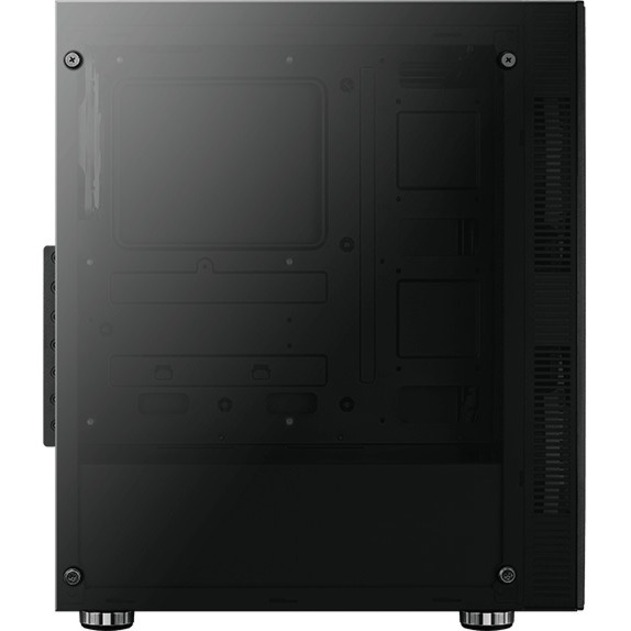 AeroCool Python Computer Case - ATX, Micro ATX, Mini ITX Motherboard Supported - Mid-tower - SPCC, Acrylonitrile Butadiene Styrene ABS - Black - 5.81 kg - 4 x Bay