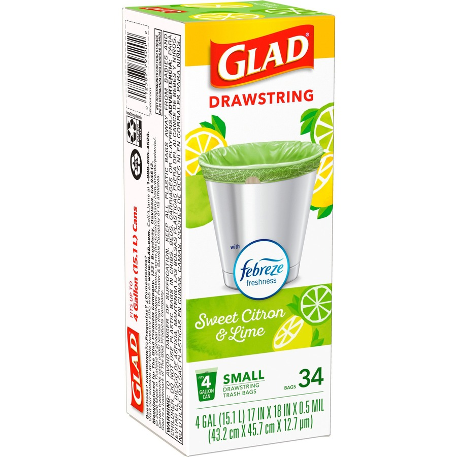 Glad Tall Kitchen Drawstring Trash Bags Forceflexplus Advanced Protection 4 Gal Green 1 Box 34 Home Office Bathroom Kitchen Laundry Perfect Output Llc Dba Laserequipment