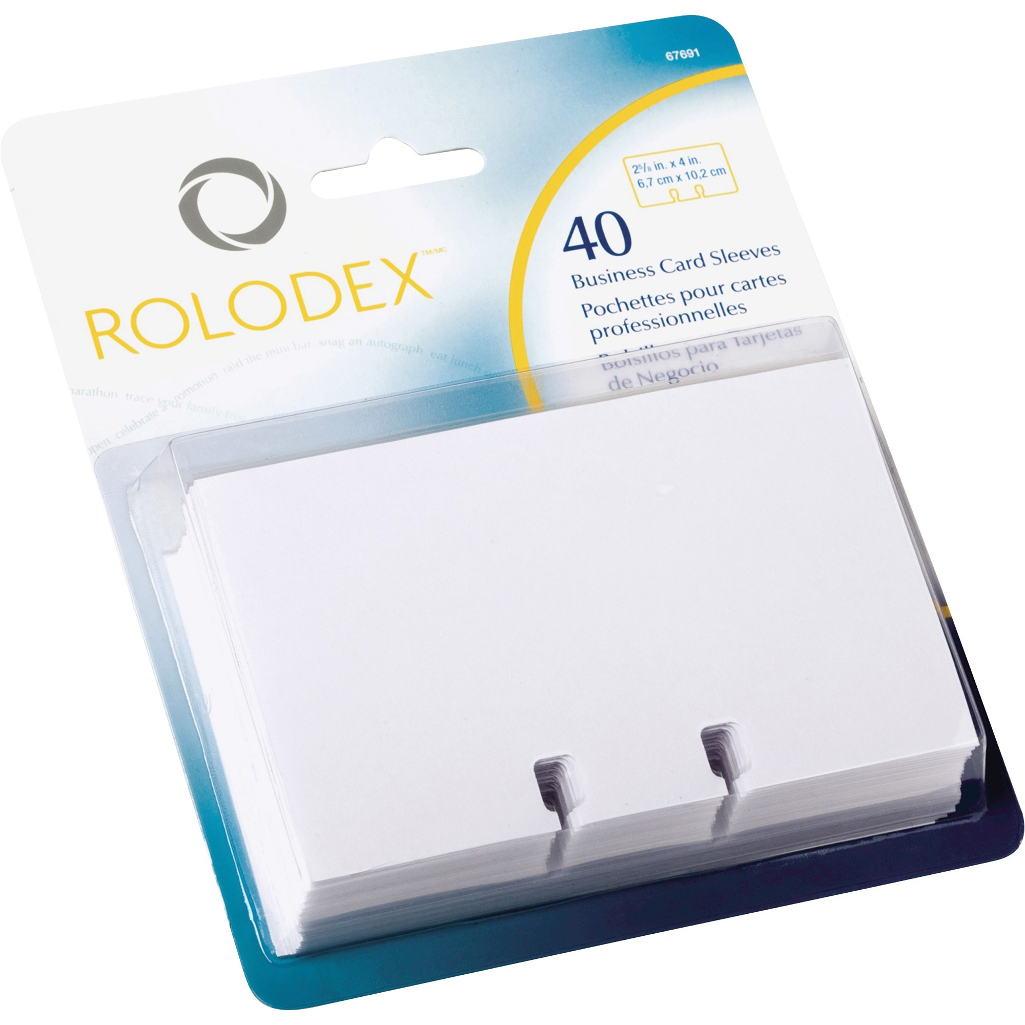 Product ROL67691 Rolodex Business Card File Refill Sleeves