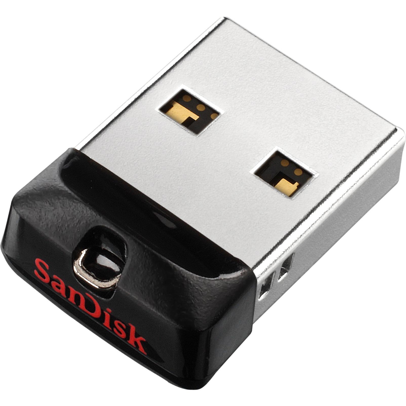 SanDisk Cruzer Fit 32 GB USB 2.0 Flash Drive - Black, Magenta