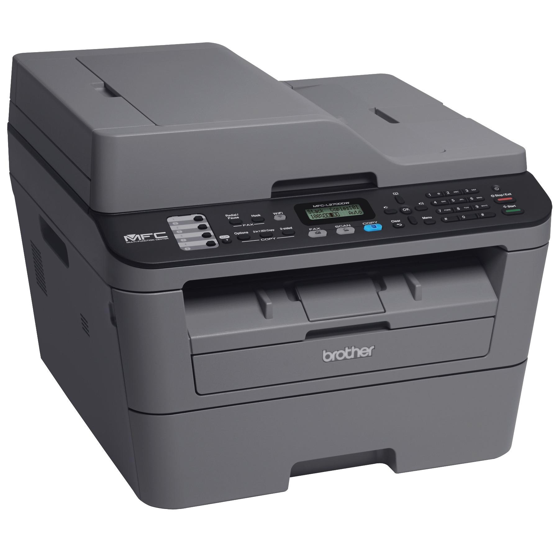 Brother MFC MFC-L2700DW Laser Multifunction Printer - Monochrome - Plain Paper Print - Desktop