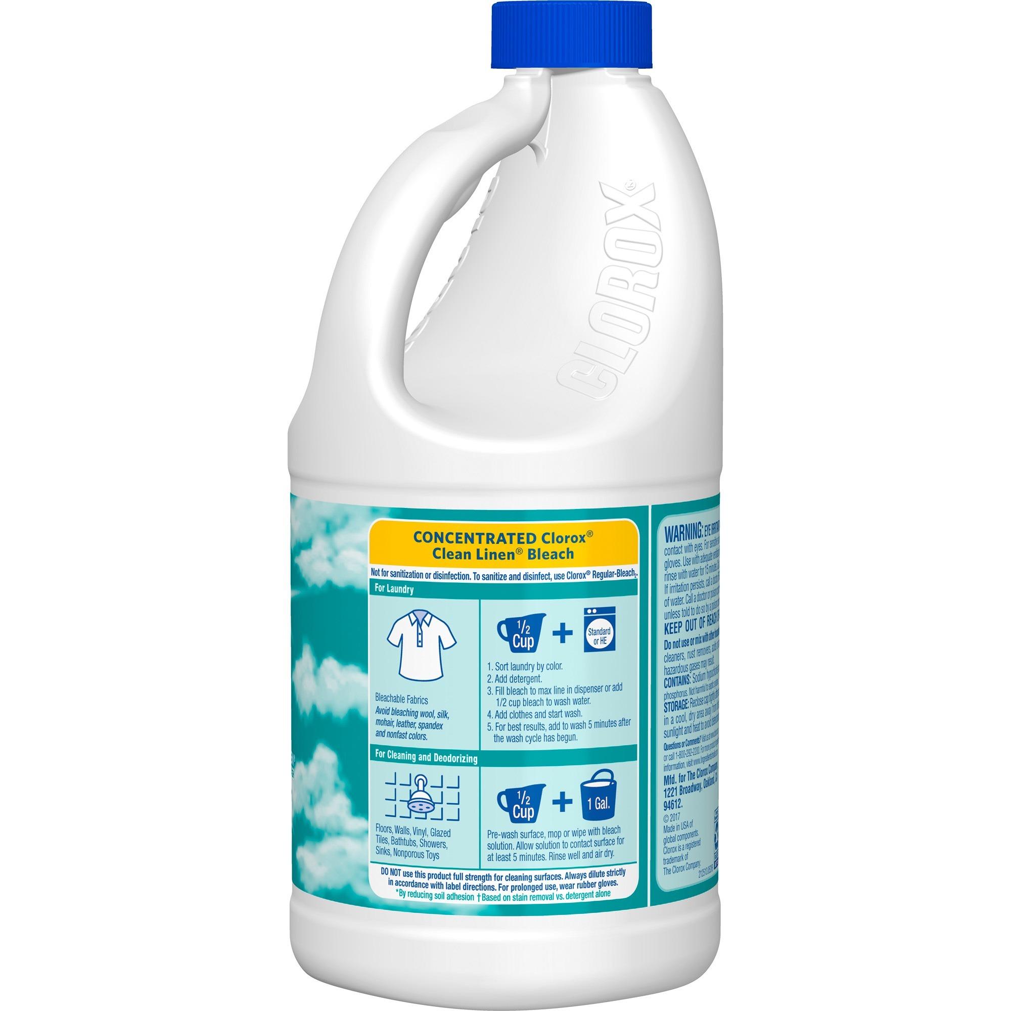Clorox Scented Bleach Concentrate Liquid 0 50 Gal 64 Fl Oz