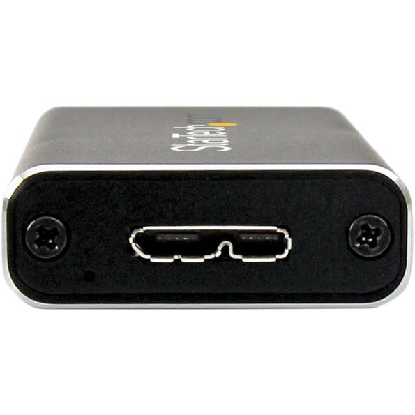 StarTech.com USB 3.0 to M.2 SATA External SSD Enclosure with UASP - 1 x Total Bay - UASP Support - Serial ATA/600 - USB 3.0 - Aluminium
