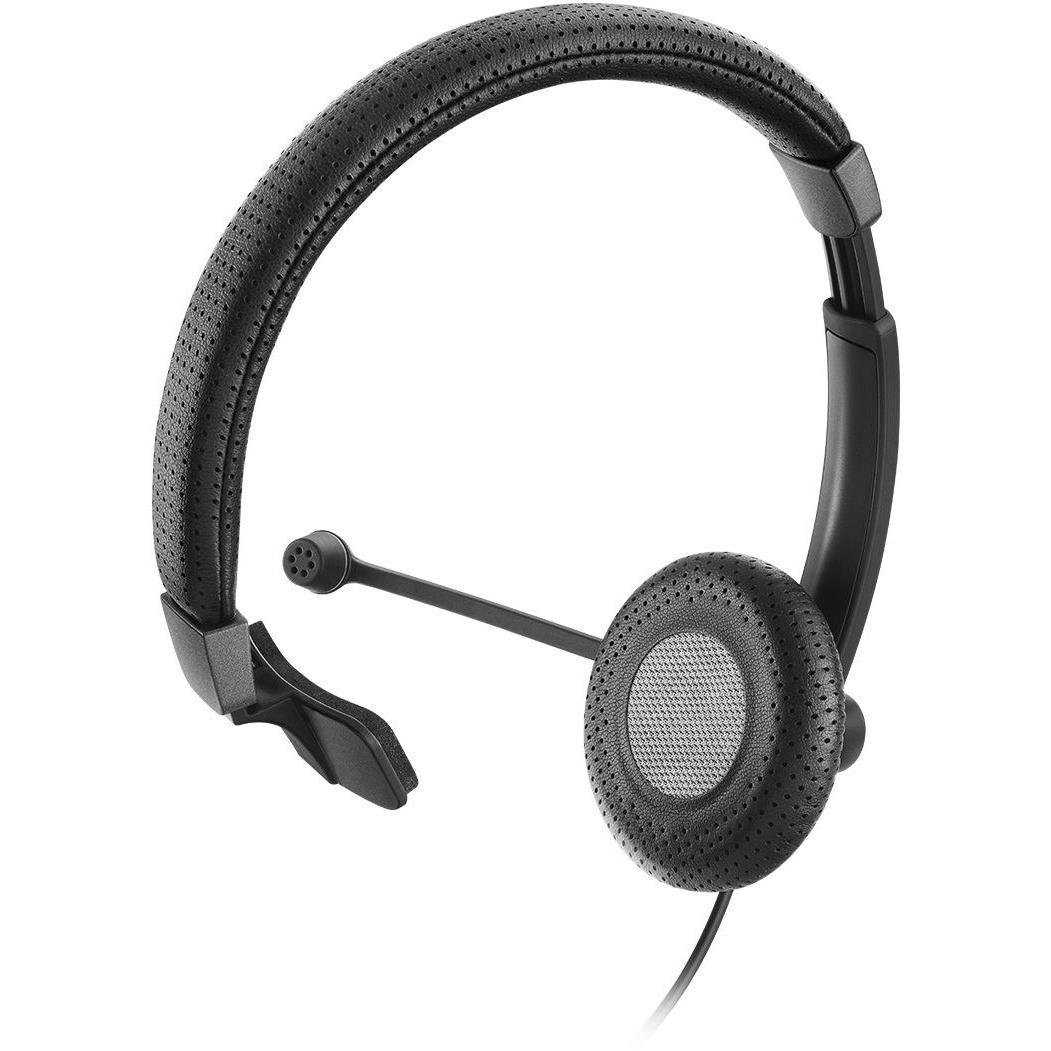 Sennheiser SC 40 USB CTRL Wired Mono Headset - Over-the-head - Circumaural - Black