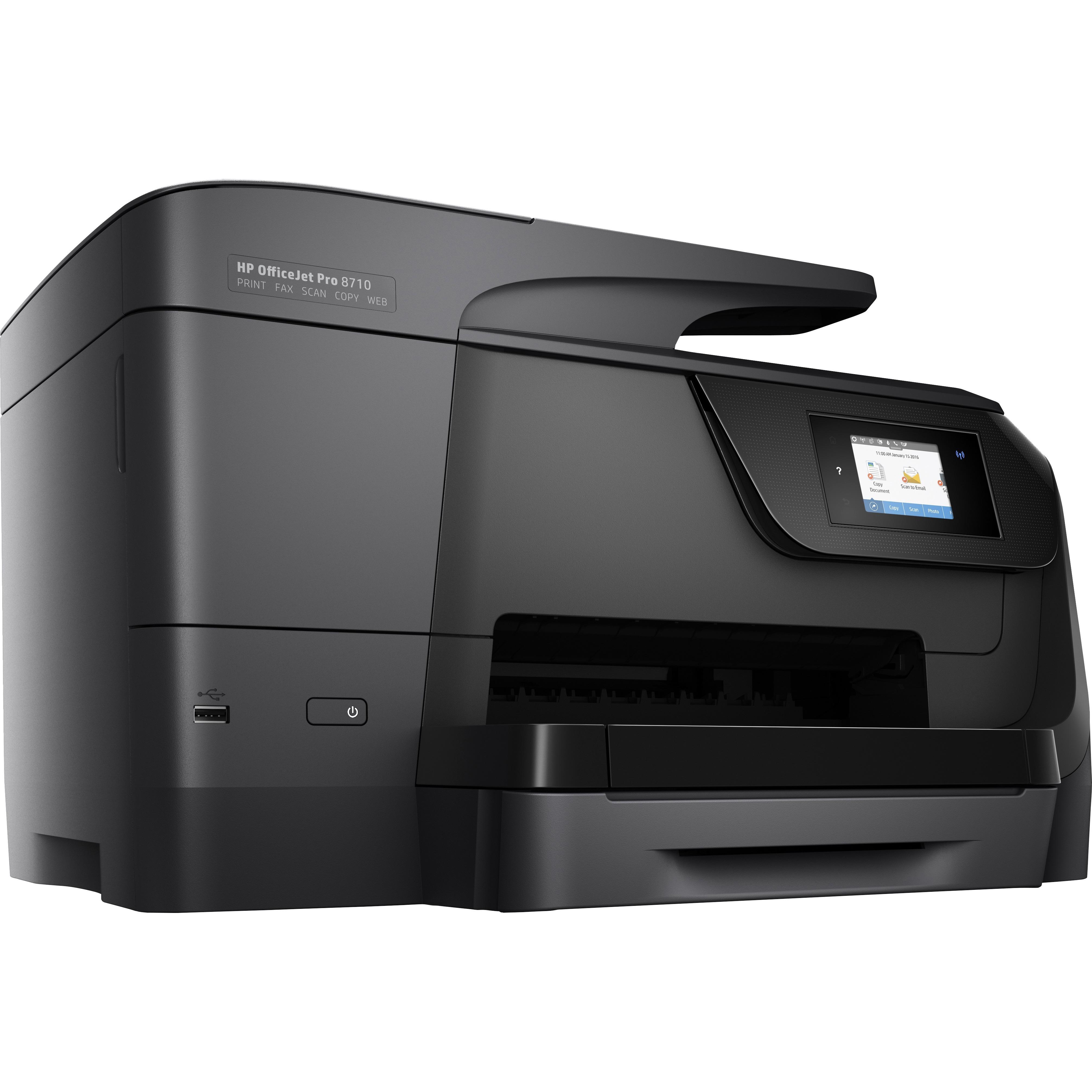 HP Officejet Pro 8710 Inkjet Multifunction Printer - Color --HEWM9L66A
