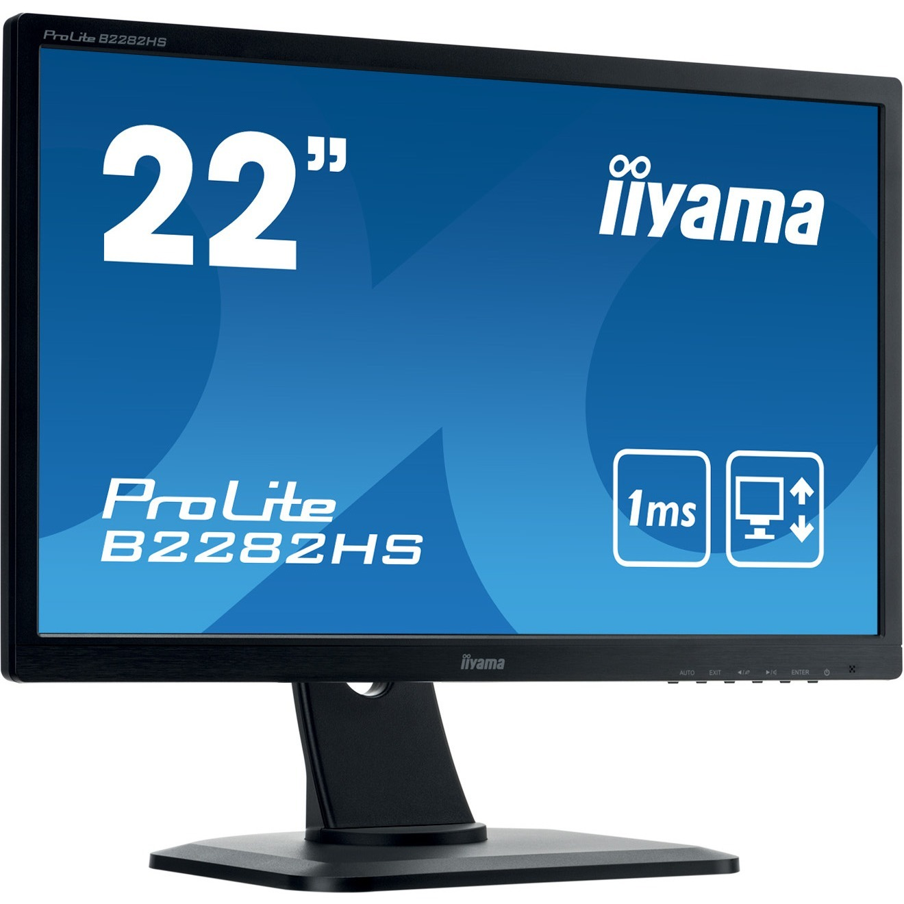 iiyama ProLite B2282HS-B1 21.5inch WLED LCD Monitor - 16:9 - 1 ms