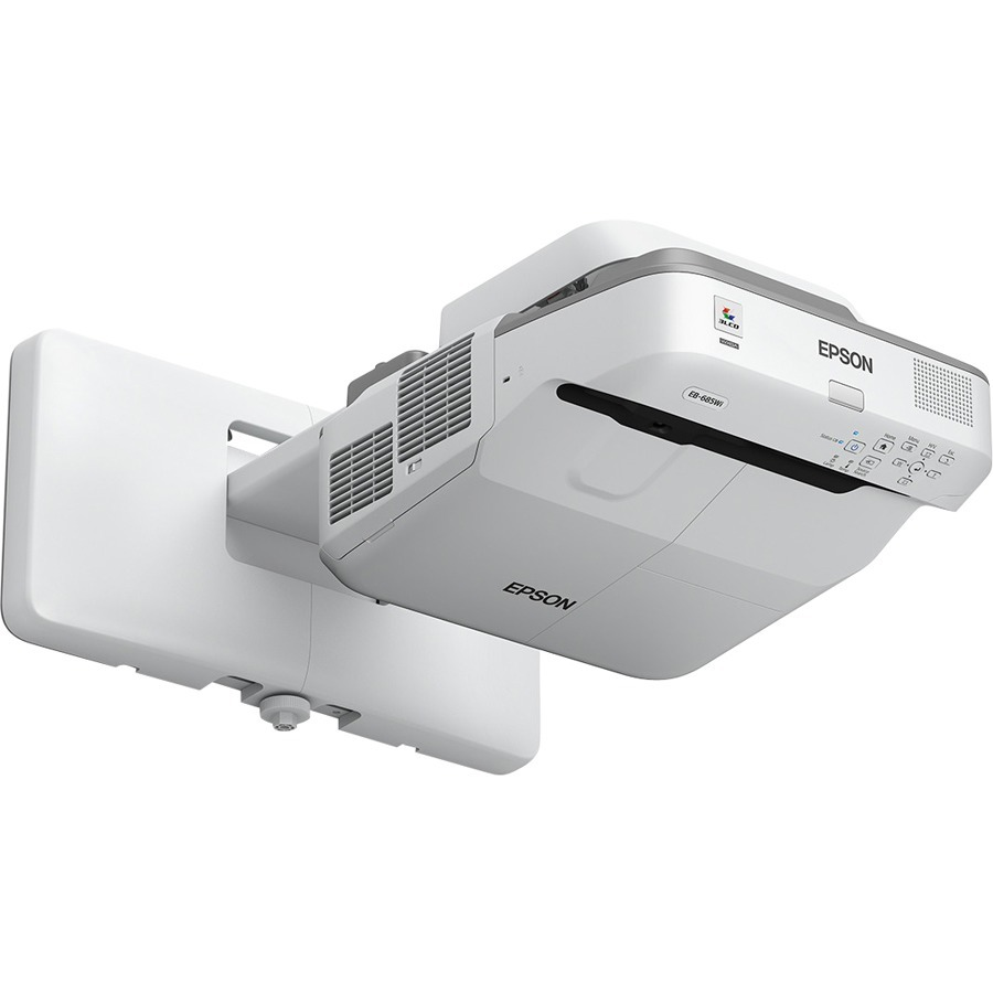 Epson EB-680 Ultra Short Throw LCD Projector - HDTV - 4:3 - Front - 250 W - 5000 Hour Normal Mode - 9000 Hour Economy Mode - 1024 x 768 - XGA - 14,000:1 - 3500 lm -