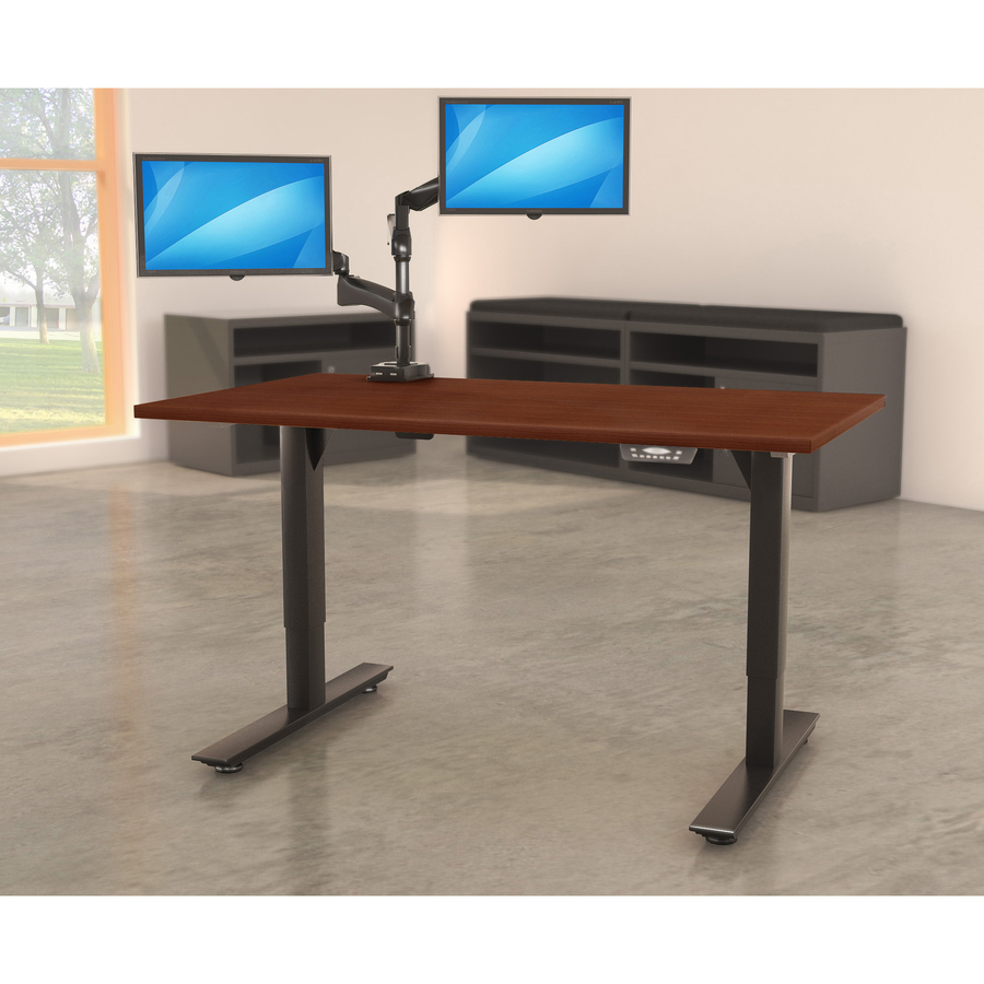 white pin desks standing adjustable tilting sit walnut stand desk and cart laptop in mobile airlift