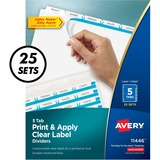 AVE11446 - Avery Index Maker Print & Apply Clear Label Div...