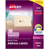 AVE5660 - Avery® Matte Clear Address Labels, Sure Fe...