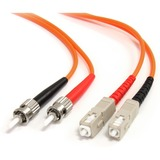StarTech.com 1m Multimode 62.5/125 Duplex Fiber Patch Cable ST - SC