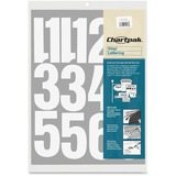 """Chartpak Vinyl Numbers - 23 Numbers - Self-adhesive - Easy to Use - 4"""" Height - White - Vinyl - 1 /  CHA01196"""