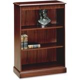 "HON 94000 Series 3-Shelf Bookcase - 49.6"" Height x 35.8"" Width x 15"" Depth - Recycled - Mahogany - 1 HON94222NN"