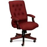 "HON 6541 Executive High-Back Chair - Olefin Burgundy Seat - 5-star Base - Mahogany - Fabric - 21.50"" HON6541NAB62"
