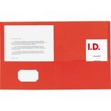 "Sparco Double Pocket Portfolio - Letter - 8 1/2"" x 11"" Sheet Size - 125 Sheet Capacity - 2 Inside Fr SPR71439"