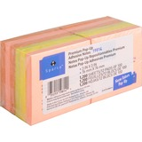"""Sparco Fanfold Pop-up Adhesive Neon Note Pads - 100 - 3"""" x 3"""" - Neon Assorted - Pop-up, Solvent-free SPR19814"""