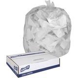 "Genuine Joe Clear Trash Can Liners - Medium Size - 30 gal - 30"" Width x 36"" Length x 0.60 mil (15 Mi GJO01012"