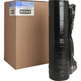 "Sparco Black Stretch Film - 18"" Width x 1500 ft Length - 4 Wrap(s) - Heavyweight - Black SPR56016"