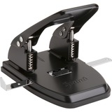 "Sparco Heavy-duty Hole Punch - 2 Punch Head(s) - 30 Sheet Capacity - 1/4"" Punch Size - Black SPR00785"