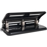 """Sparco Heavy-duty Hole Punch - 3 Punch Head(s) - 30 Sheet Capacity - 9/32"""" Punch Size - Black SPR01796"""