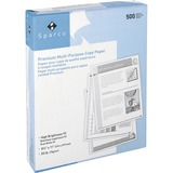 "Sparco Punched Multipurpose Copy Paper - Letter - 8.50"" x 11"" - 20 lb Basis Weight - 3 x Hole Punche SPR06121"