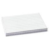 "Sparco Continuous Paper - 13.87"" x 11"" - 15 lb Basis Weight - 1625 / Carton - Green Bar SPR62442"