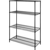 """Lorell Starter Shelving Unit - 48"""" x 18"""" x 72"""" - 4 x Shelf(ves) - 4000 lb Load Capacity - Black - Po LLR70061"""