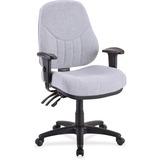 "Lorell Baily High-Back Multi-Task Chair - Acrylic Gray Seat - Black Frame - 26.9"" Width x 28"" Depth  LLR81100"