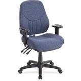 "Lorell Baily High-Back Multi-Task Chair - Acrylic Blue Seat - Black Frame - 26.9"" Width x 28"" Depth  LLR81101"