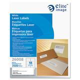 "Elite Image Mailing Laser Label - Permanent Adhesive - 1.33"" Width x 4"" Length - Rectangle - Laser - ELI26008"