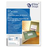 "Elite Image Address Label - Permanent Adhesive - 1"" Width x 2.62"" Length - Rectangle - Inkjet - Whit ELI26030"