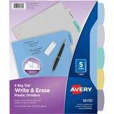 Avery Big Tab Write & Erase Plastic Dividers