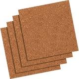 """Quartet® Natural Cork Tiles - 12"""" Height x 12"""" Width - Brown Natural Cork Surface - 4 / Pack QRT102Q"""