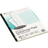 """Wilson Jones® Column Write® Pads - 50 Sheet(s) - Letter - 11"""" x 8.50"""" Sheet Size - 3 x Holes WLJG7205"""