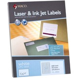 "MACO Laser/Ink Jet White UPC Labels - Permanent Adhesive - 1"" Width x 1.50"" Length - 50 / Sheet - Re MACML5000"
