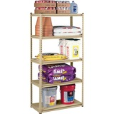 "Tennsco Stur-D-Stor Steel Shelving - 36"" x 18"" x 72"" - 1000 lb Load Capacity - Sand - Particleboard, TNNLSS482484SD"