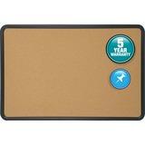 """Quartet® Contour® Cork Bulletin Board - 36"""" Height x 48"""" Width - Brown Natural Cork Surface  QRT699175"""