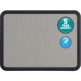 "Quartet® Contour® Granite Bulletin Board - 24"" Height x 18"" Width - Faux Granite Surface - B QRT699365"