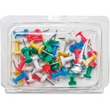 """Gem Office Products Products Push Pin Caddy - 3.3"""" Width - 40 Pack - Assorted - Plastic, Steel GEMPPC40AS"""