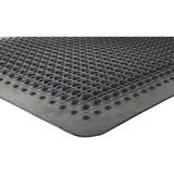 "Genuine Joe Flex Step Anti-Fatigue Mat - Warehouse - 60"" Length x 36"" Width - Rubber - Black GJO70373"