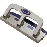 """OIC Deluxe Standard Hole Punch - 3 Punch Head(s) - 20 Sheet Capacity - 9/32"""" Punch Size - Silver OIC90102"""